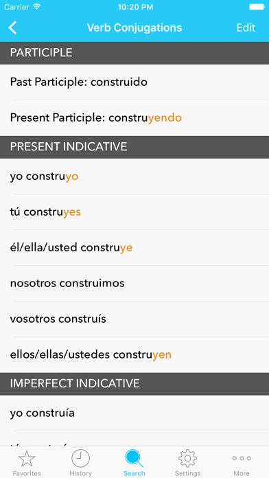 English Spanish Dictionary C. Screenshots