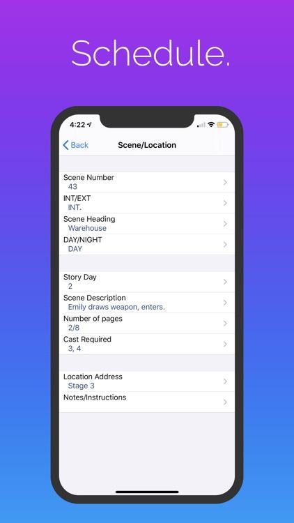 Pocket Call Sheet