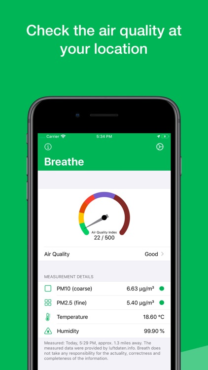 Breathe - Air Quality Monitor screenshot-0