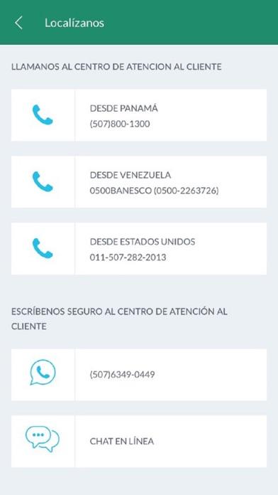 Banesco PA screenshot three