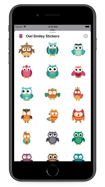 Owl Smiley Stickers screenshot-3