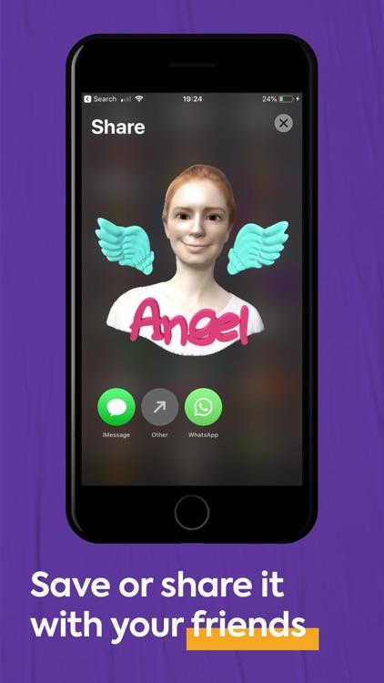 FaceHero - 3D avatar stickers screenshot-3