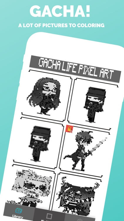 Gacha Pixel Art Coloring