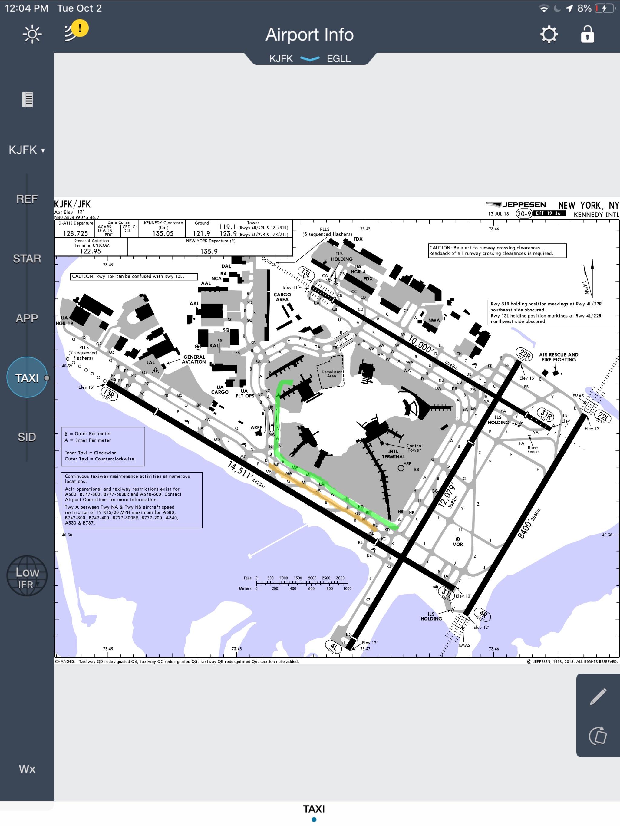 Jeppesen Mobile FD Screenshot