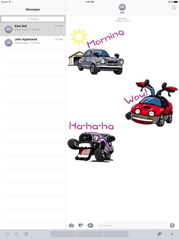 Animated Funny Car Sticker screenshot 4