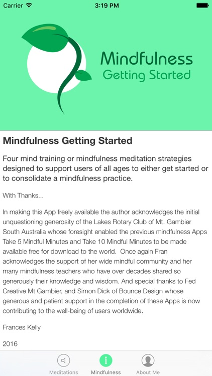 Mindfulness Getting Started