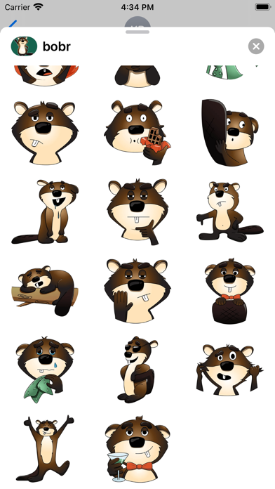 Beaver stickers for Messages screenshot 2