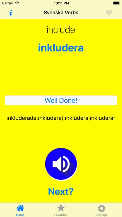 SvenskaVerbs screenshot 2