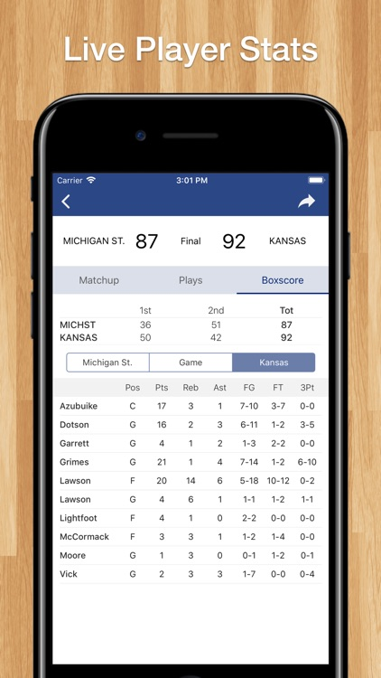 College Basketball Schedule screenshot-3