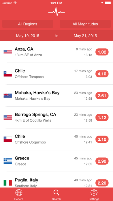 My Earthquake Alerts & Feed Screenshot