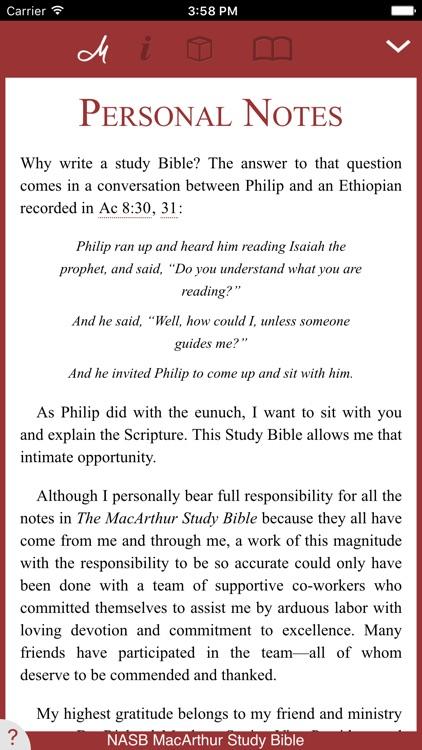 NASB MacArthur Study Bible screenshot-0