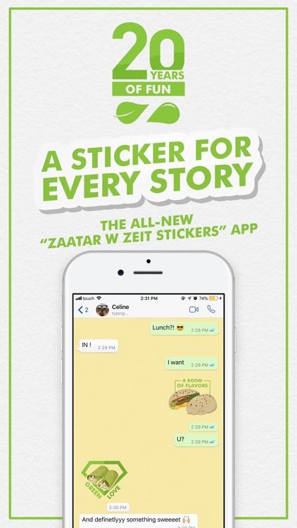 Zaatar w Zeit Stickers