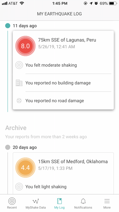 MyShake screenshot 1