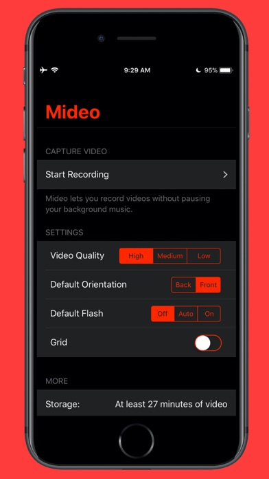 Mideo: Record Video With Music Screenshots
