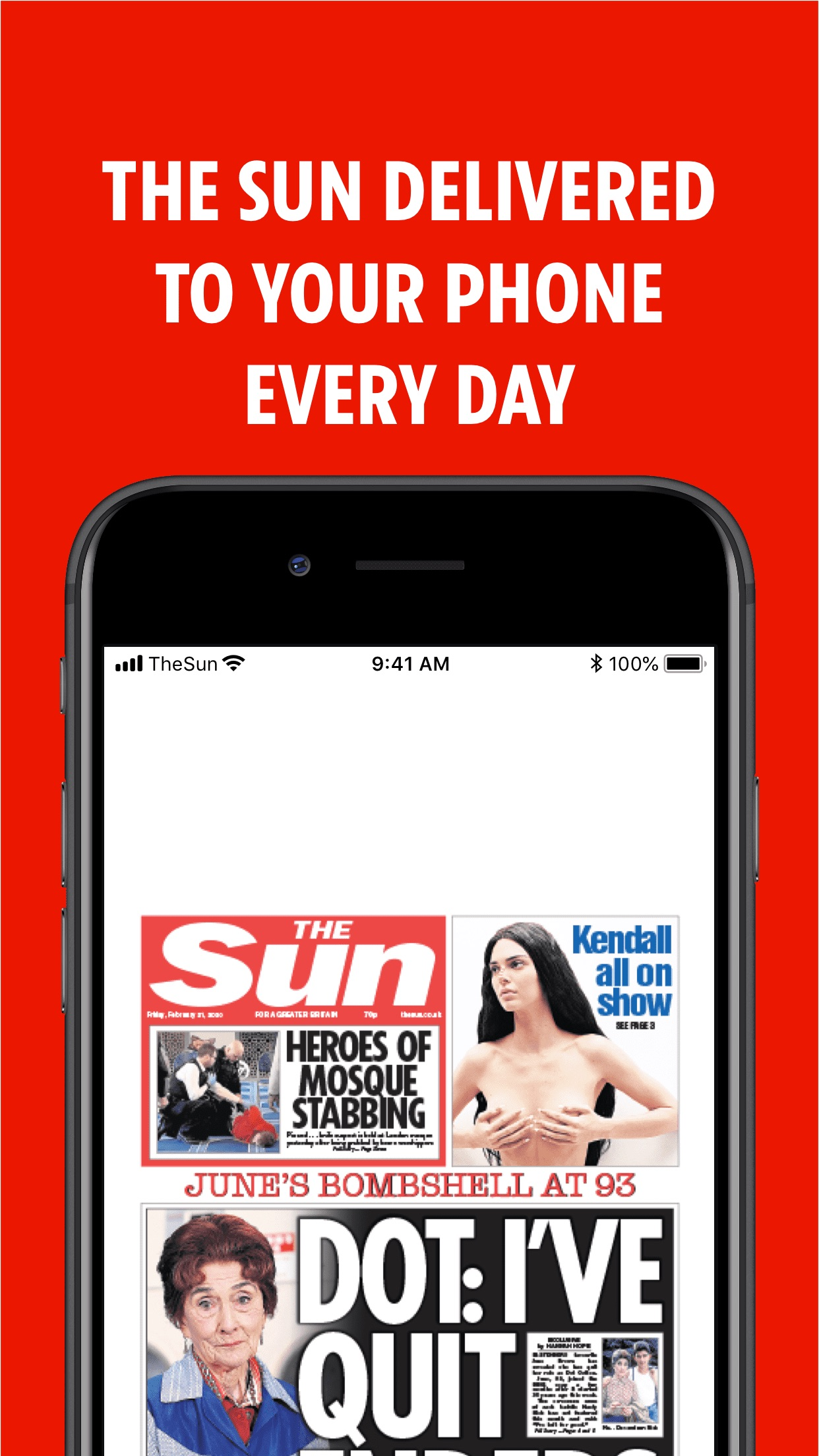The Sun Newspaper Screenshot