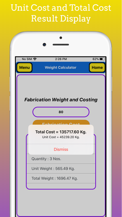 Fabrication Weight Calculator screenshot 10