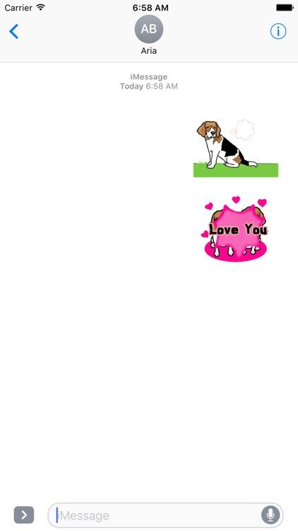 Animated Cute Beagle Stickers