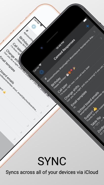 Canned Response Keyboard screenshot-3
