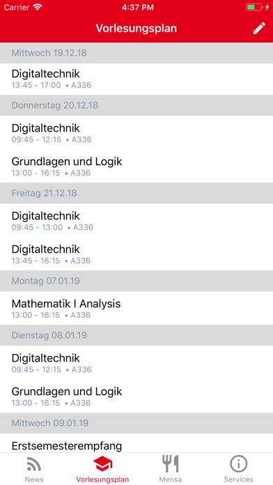 Screen Shot DHBW Lörrach Campus App 1