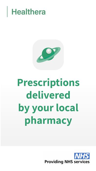 Healthera NHS Prescription App screenshot one
