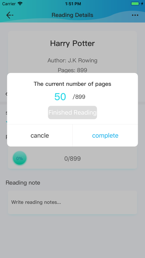 Reading Record App 截图