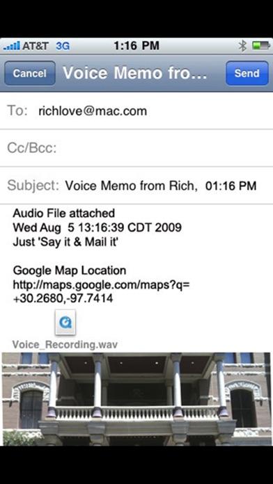 Say it Mail it Recorder Screenshots