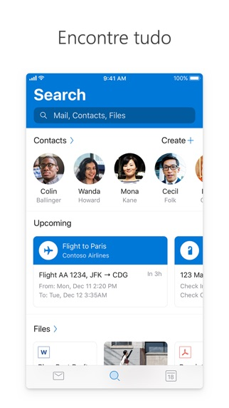 Screenshot for Microsoft Outlook in Brazil App Store