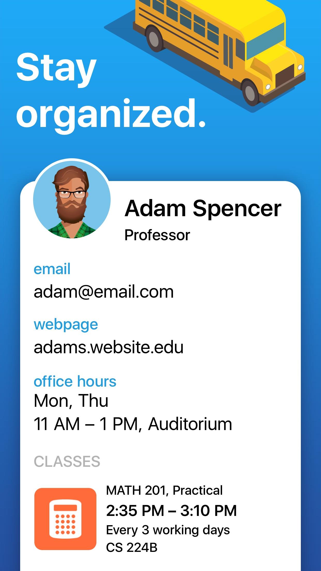 Screenshot do app iStudiez Pro – Student Planner