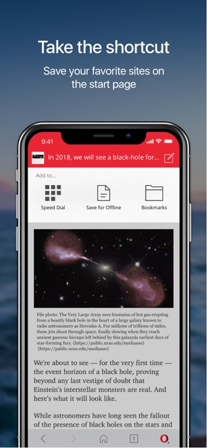 Opera Mini web browser on the App Store