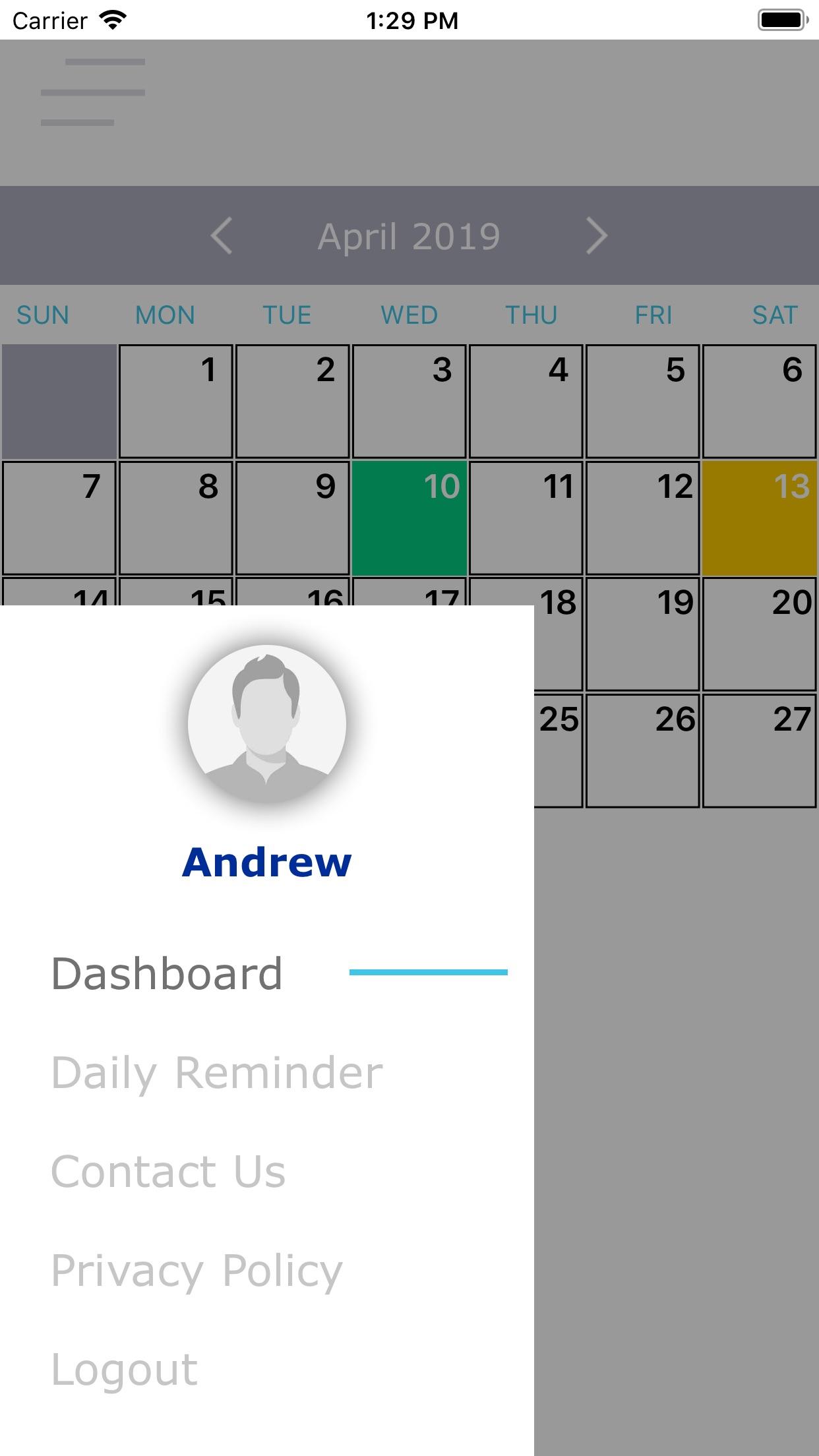 Screenshot do app Rate My Day!