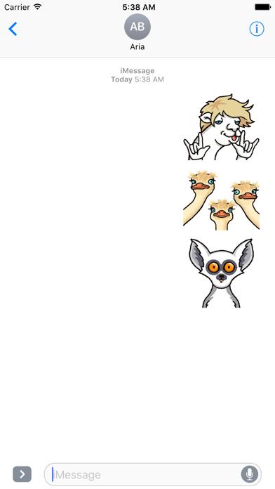Animated Funny Animals Sticker screenshot 1