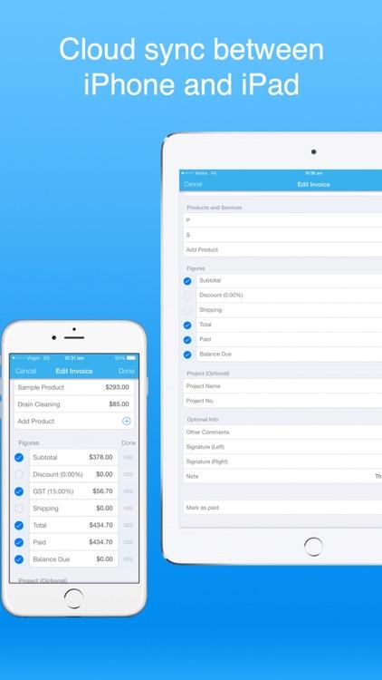 Recurring Invoices Invoice app screenshot-5