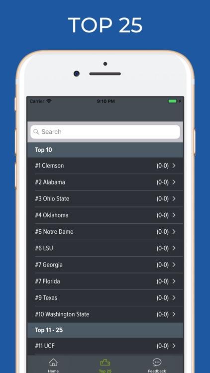 Clemson Football Schedules screenshot-5