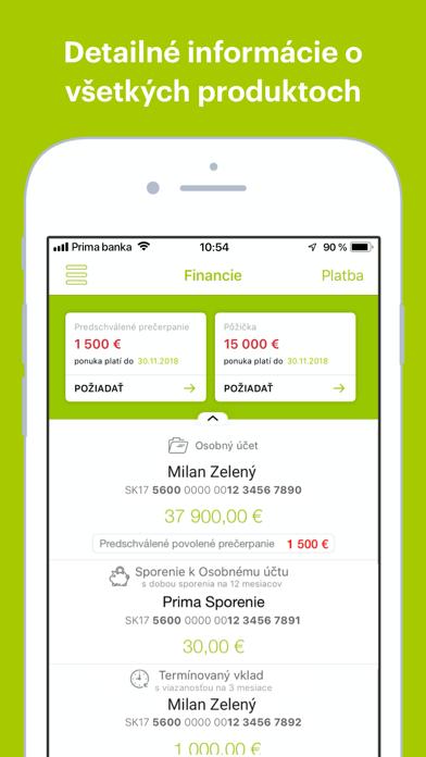 Peňaženka screenshot one