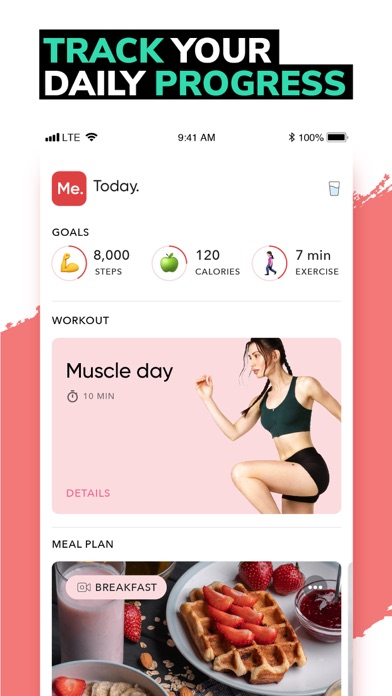 Screenshot for BetterMe: Weight Loss Workouts in Qatar App Store