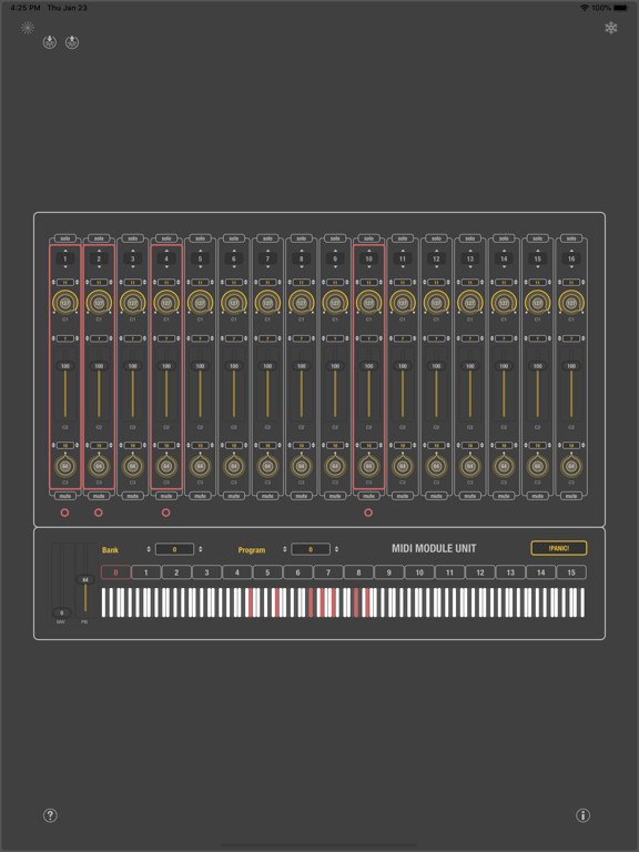 MIDI SWEET: Module Unit (AU) screenshot 4