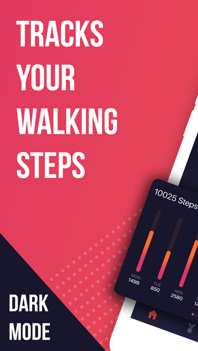 Step counter • screenshot one