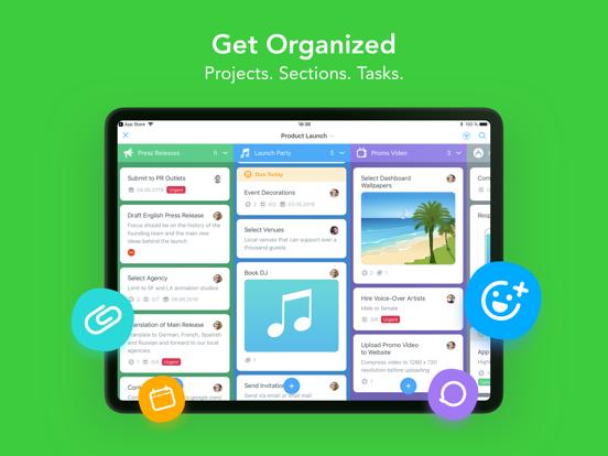 MeisterTask (task management) screenshot