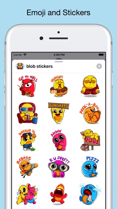 Boo emoji - weird stickers screenshot 1