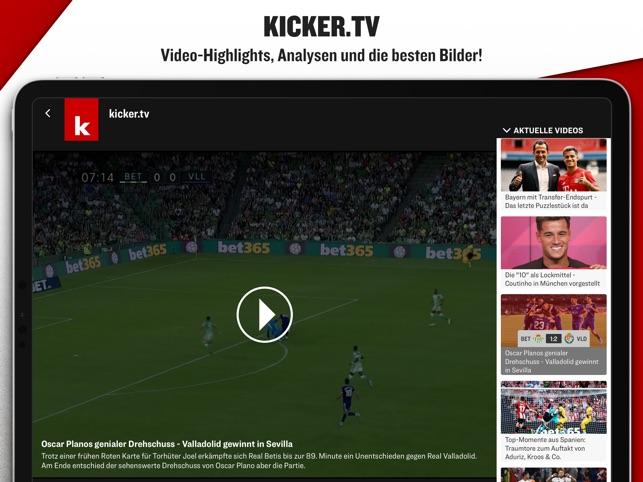 Kicker Fussball News On The App Store