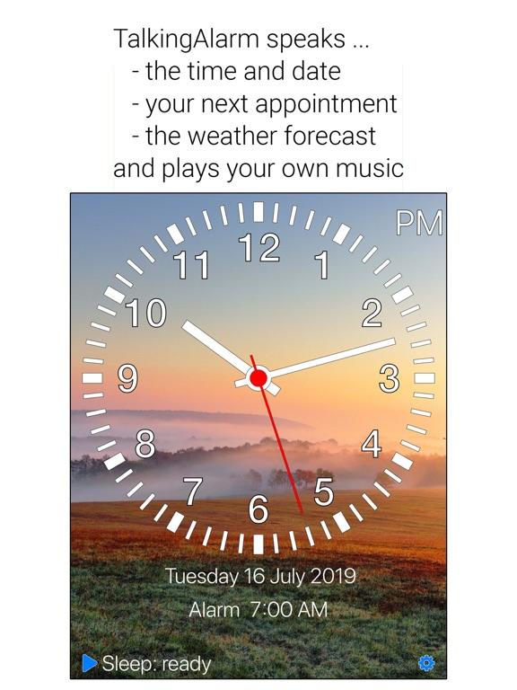 TalkingAlarm - Best bedside clock! screenshot