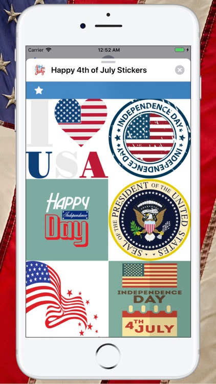 Happy 4th of July Stickers ! screenshot-2