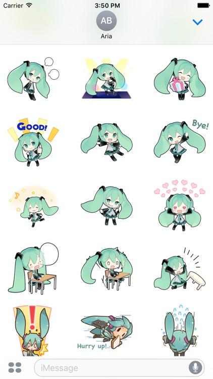 Happy Miku And Gang HD Sticker