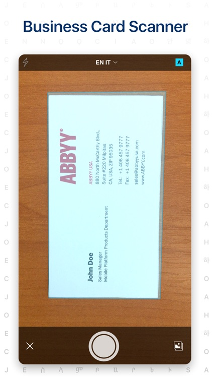 ‎Business Card Scanner screenshot-0
