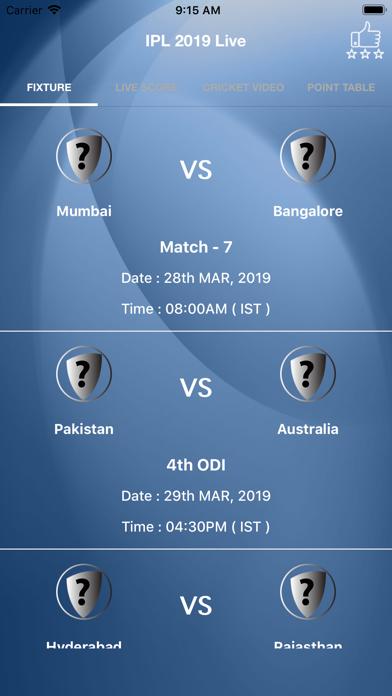 IPL 2019 Live Screenshots