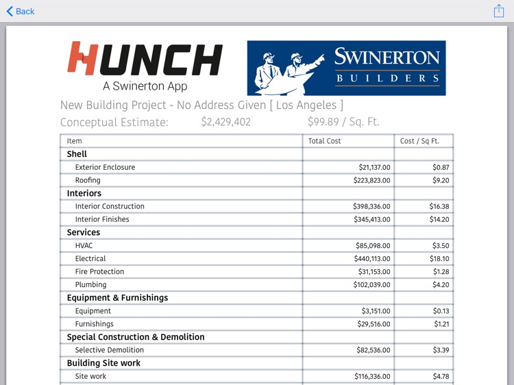 Hunch - The Estimating app screenshot-4