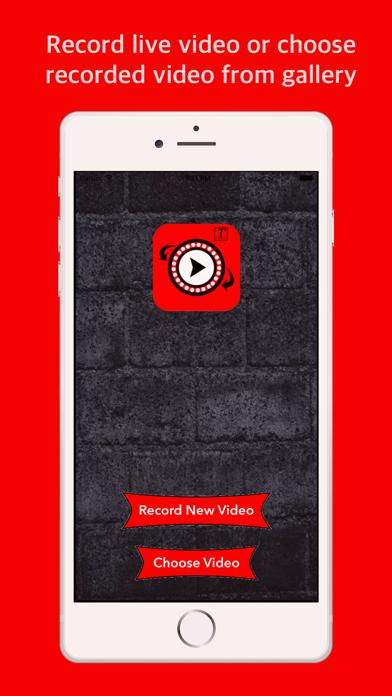 Reverse video - Add caption screenshot one