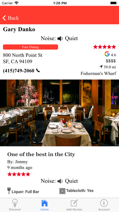 Quiet Dining screenshot four
