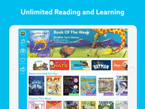 Screenshot of Epic! - Kids' Books and Videos