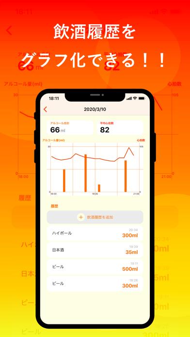 飲酒カレンダー - 健康管理アプリのスクリーンショット2